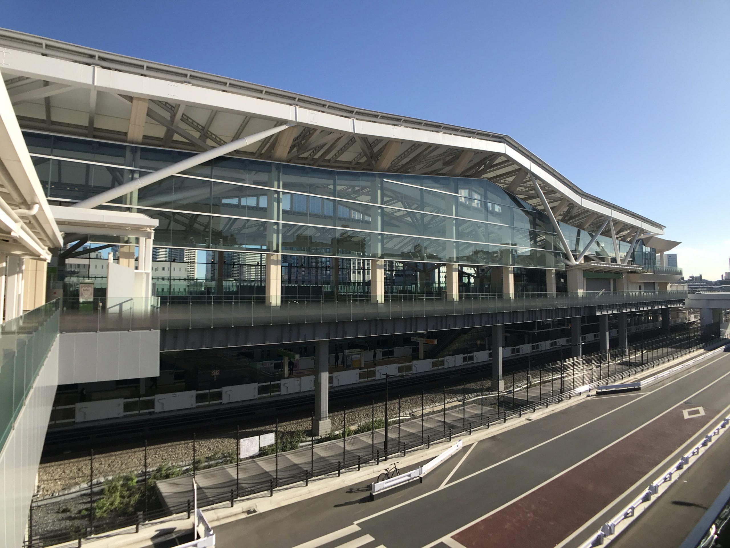 """""""隈研吾設計""""JR高輪ゲートウェイ駅"""